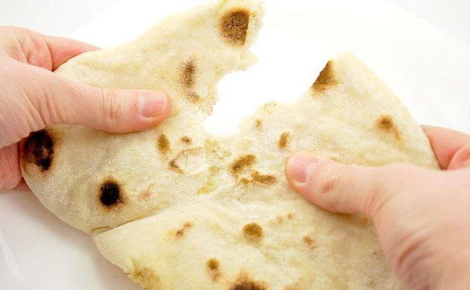 fresh home-made pita bread