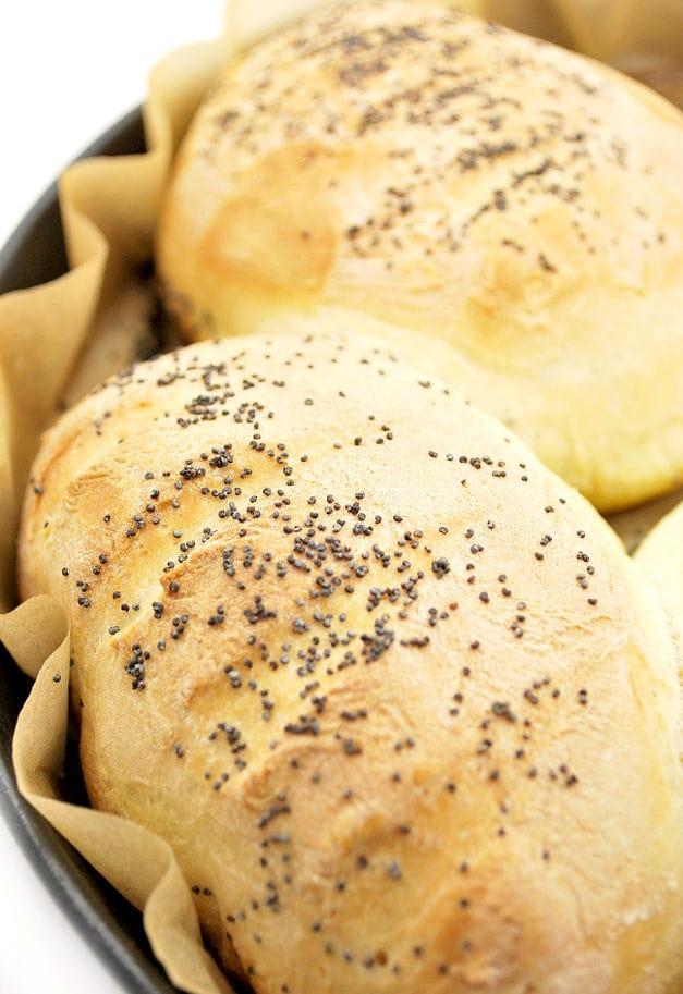 baking the mini baguettes