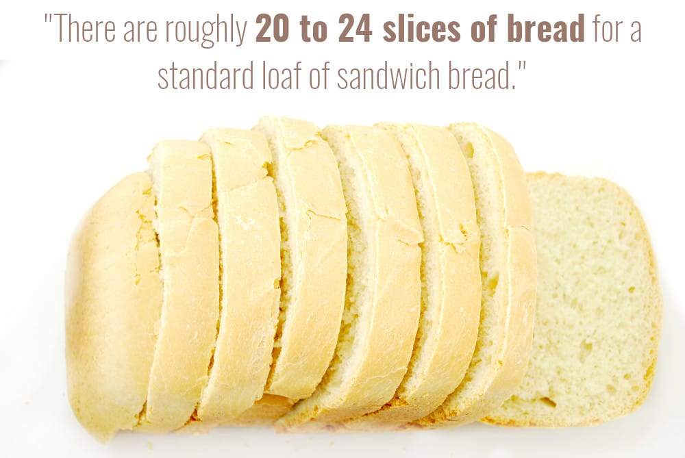how many slices are in a loaf of bread